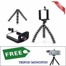 Mini Tripod Flexible Tripod Gorilla Pod Octopus small + Holder U Free FDT Tripod