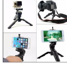 Mini Tripod Lipat 2 in 1 Portable Mini Handle Folding Tripod Monopod for DSLR Action Camera Smartphone  - Tripod Murah Tripod Serbaguna Penyangga Hp Penyangga Kamera