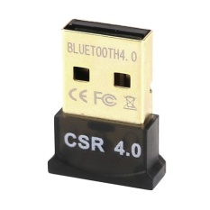 Mini USB 3 Mpbs Bluetooth 4.0 Pemancar Suara Tanpa Kabel Adaptor Dongle (Hitam)-