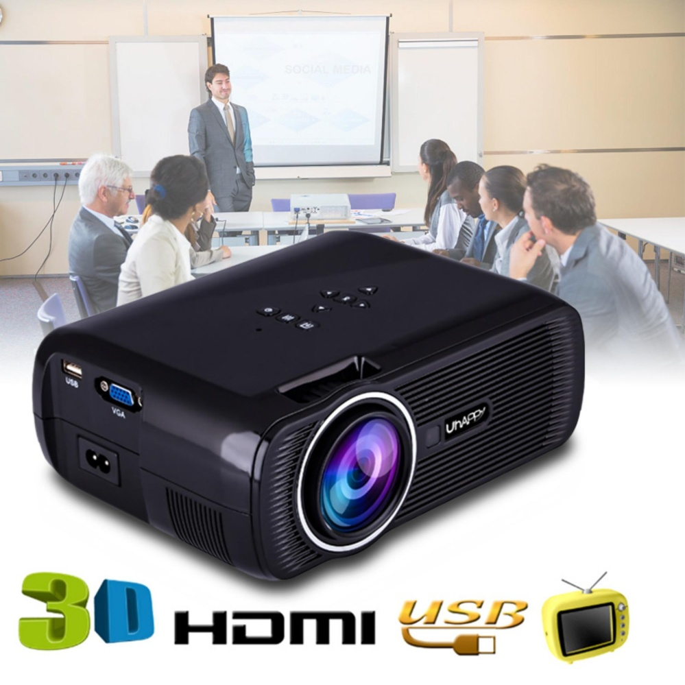 Mini WIFI 7000 Lumens 1080 P 3D HD LED Portable Projector Theater Home Cinema