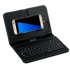 Beli Mini Wired Keyboard Umum Flip Keyboard Berkabel Case Untuk Ponsel Android 4 2 6 8 Wired Untuk Tablet Laptop Pc Intl Cicilan