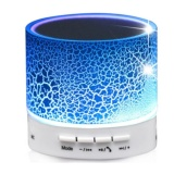 Diskon Mini Wireless Bluetooth Speaker A9 Smart Led Light Cr*ck Support Tf Card Usb Flash Drive Fm For Smartphones Tablets Pc All Blutooth Devices Pc With Mic Intl