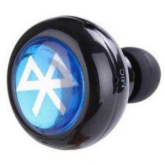 Mini Bebas Genggam Nirkabel Bluetooth Earphone Stereo Mono The Hook Telinga With Headset And Mikrofon For Telepon Asli