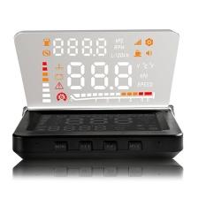 Mobil Kecil E260 4 Inch Mobil HUD Yang Mengepalai Tampilan OBD II Engine AlarmFault Penghapusan Kode Hitam (Warna: Hitam)-Intl