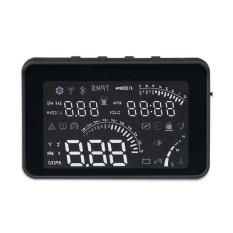 Mobil Kecil Geyiren W03 Mobil HUD Yang Mengepalai Tampilan OBD II Antarmuka Suara/Kecepatan/Suhu Mesin/Tegangan Baterai /ClockBlack (Co-Intl