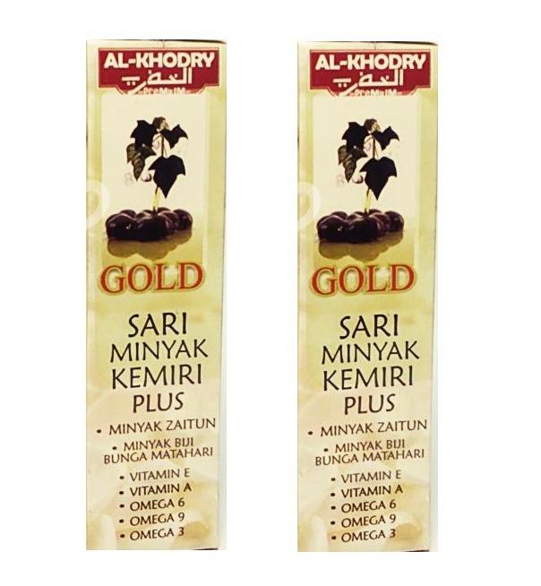 Minyak Kemiri Sari Plus Al Khodry Gold - 2 Botol