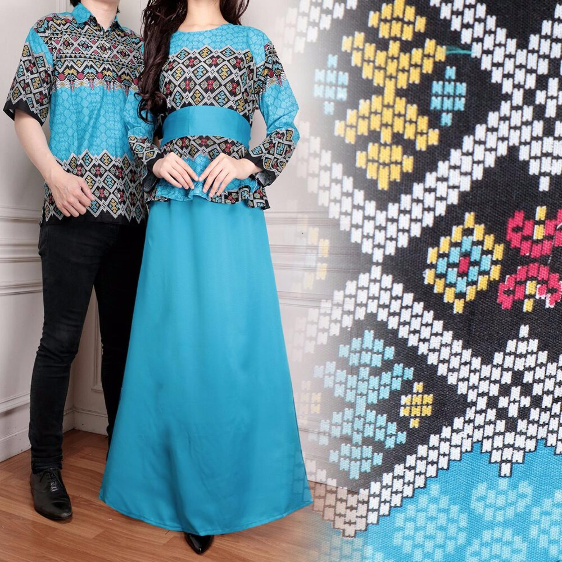 Spek Miracle Couple Gamis Maxi Longdress Jasmine Biru Miracle