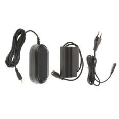Keajaiban Bersinar DC Coupler DMW-DCC12 + Eu Plug AC Power Adaptor untuk Panasonic Lumix DMC-GH3K-Intl