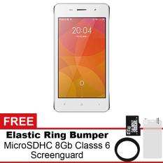 Harga Mito A82 4Gb Putih Gratis Microsdhc 8Gb Class 6 Elastic Ring Bumper Screenguard Mito Terbaik