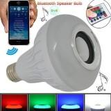Toko Mitsuyama Bluetooth Speaker Bohlam Lampu Led 7W Musik Bermain Pencahayaan Menggunakan Remote Control Lengkap Di Banten