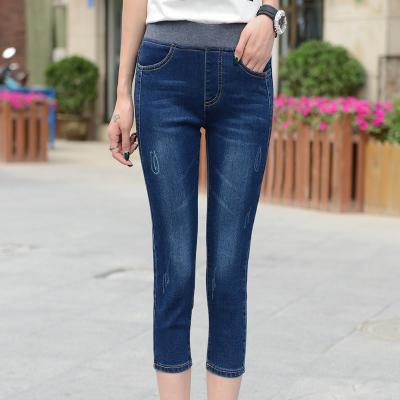 Tips Beli Mm Celana 3 4 Koboi Elastis Celana Pendek Perempuan Bagian Tipis Biru Tua Yang Bagus
