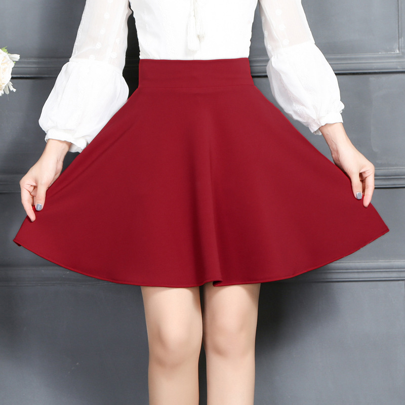 Toko Mm Korea Fashion Style Musim Semi Dan Musim Panas Baru Gadis Rok Rok Setengah Badan Arak Anggur Warna Termurah