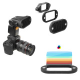 Spesifikasi Lands 2 In 1 Universal Honeycomb Grid Set With 7 Color Gels For External Camera Flashes Speedlight Magnet Instant Attachment Selens Terbaru