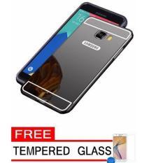 MNC Case Metal for Samsung Galaxy J7 Prime Aluminium Bumper With Mirror Backdoor Slide - Black