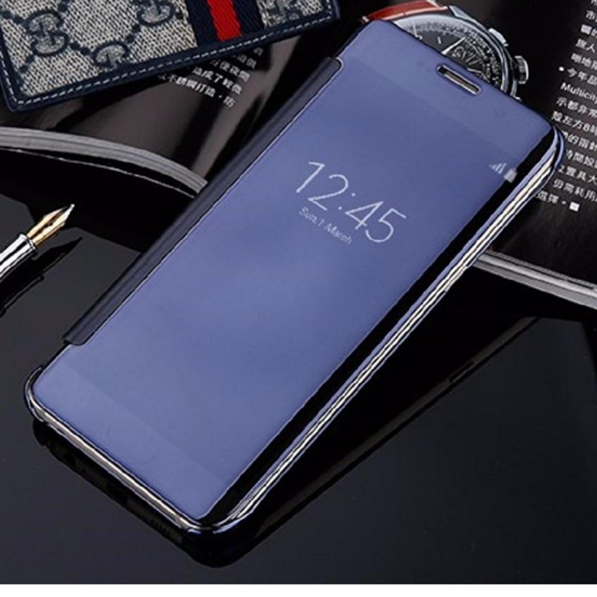 Jual Mnc Case Samsung Galaxy J7 Prime Flipcase Flip Mirror Cover S View Transparan Auto Lock Casing Hp Black Di Dki Jakarta