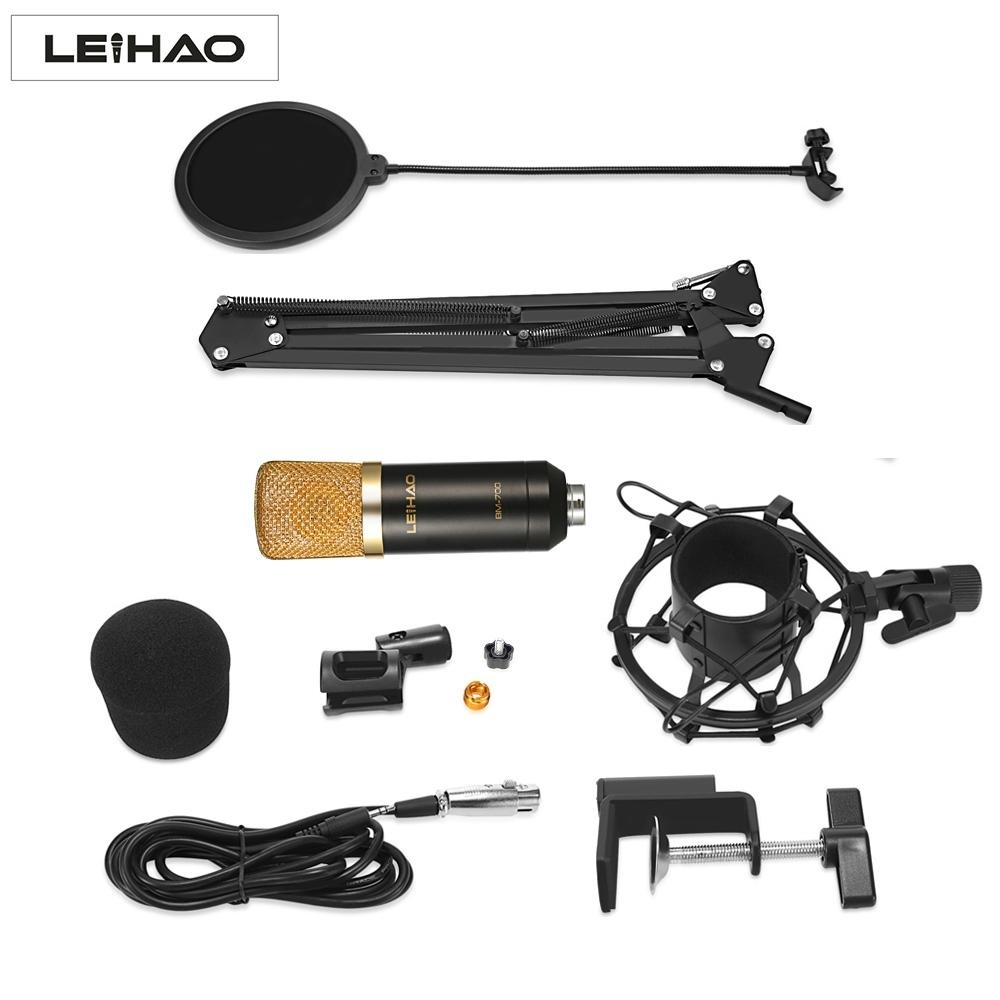 Penawaran Istimewa Mobil Kecil Hitam Leihao Bm 700 Mikrofon Kondensor Profesional Terbaru