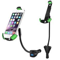 Mobil Universal dudukan ponsel dengan 3-port USB Charger (5 V, 5,5 amp) Stan Cradle untuk Apple iphone 6 6Plus Samsung Galaxy S6 S5