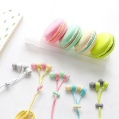Jual Ponsel Komputer Macaroon 3 5Mm Hijau Stereo In Ear Earphone Intl Oem Murah
