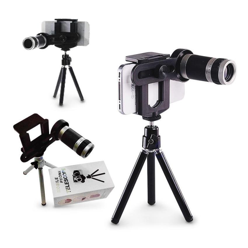 Beli Mobile Phone Telescope Zoom Lensa 8X Universal With Tripod Nyicil