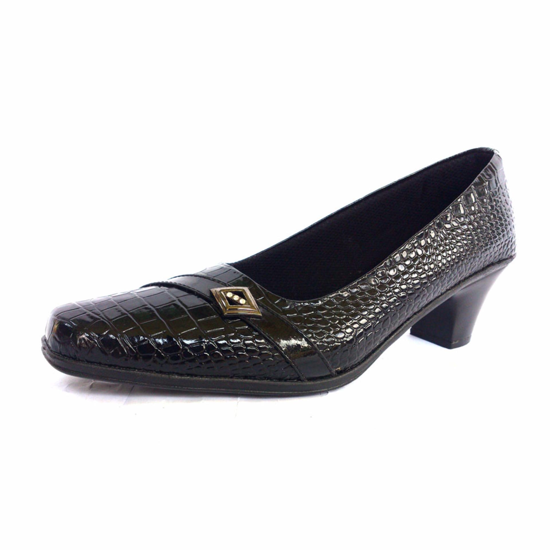 Models Sepatu Pantofel Sepatu Kerja Sepatu Kantor Motif Kulit Buaya