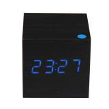 Jual Modern Kayu Digital Jam Weker Dengan Thermometer Hitam Lengkap