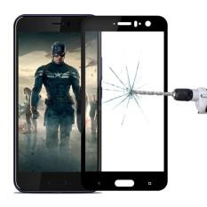Mofi untuk HTC U11 9 H Kekerasan Permukaan 2.5D Arc Edge Layar Penuh Kaca Antigores Film Pelindung Layar (Hitam) -Intl