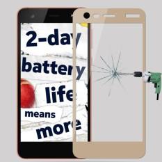 Mofi untuk Nokia 2 9 H Kekerasan Permukaan 2.5D Tepi Busur Penuh Layar Kaca Melunakkan Film Layar Pelindung (Emas) -Internasional