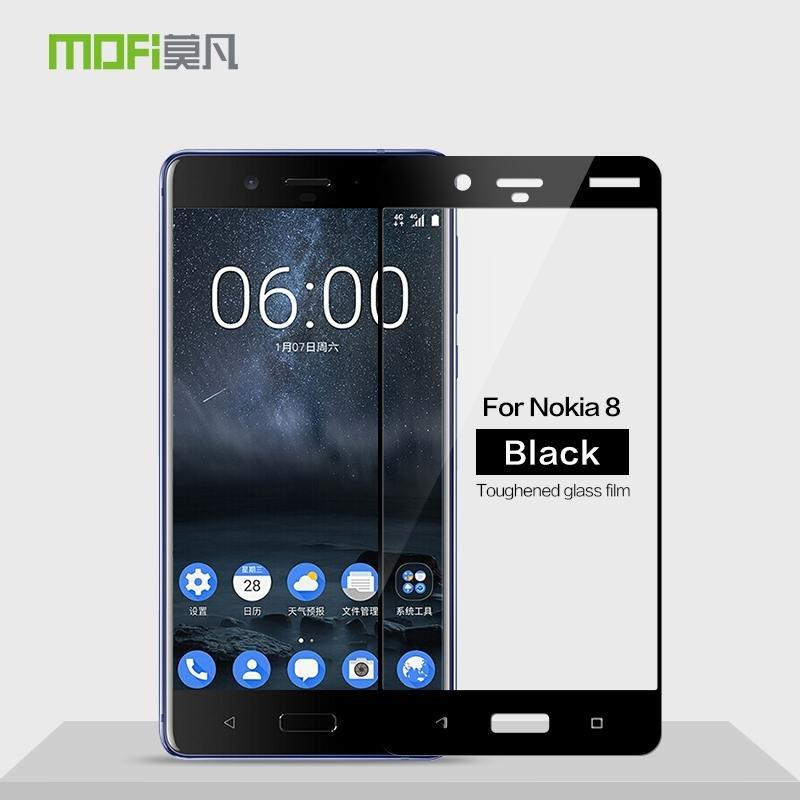 Spesifikasi Mofi Untuk Nokia 8 Diamond Layar Penuh Cover 9 H Tempered Glass Film Intl Bagus
