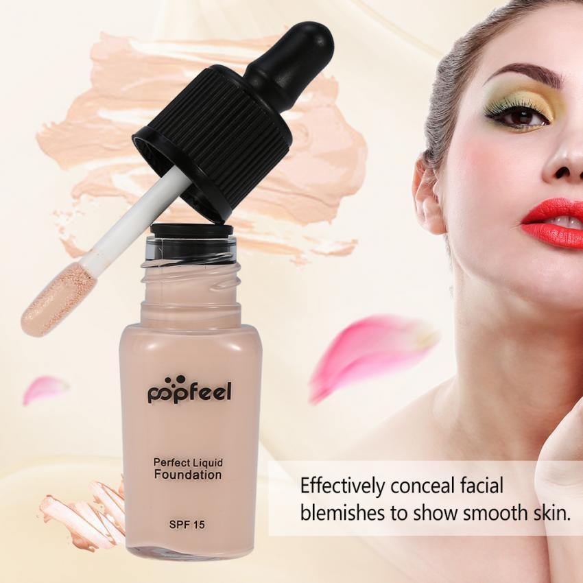 Moisturizing Whitening Cahaya Tinggi Liquid Foundation Krim Isolasi Concealer Kosmetik (FO03)-Intl
