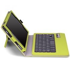 MoKo Fire HD 8 Bluetooth Tastatur Hülle Keybord Case - PU Leder Schutzhülle mit abnehmbarer Wireless Bluetooth Tastatur QWERTY Layout für Amazon Fire HD 8.0 Zoll (5. Generation - 2015 Modell), Grün (Nicht für Fire HD 8 2016) - intl