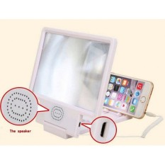 Monitors AnyWhere Zoom Magnifier / Enlarged Screen Smartphone Projection / Kaca Pembesar Layar HP Built In Speaker - Putih