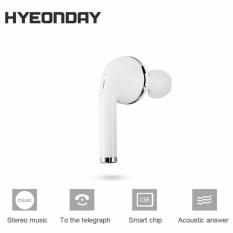 MONO Headset Nirkabel Tak Terlihat Tersembunyi Kepala Set Stereo Bluetooth Earphone-Internasional