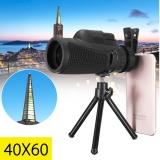 Monocular 40X60 Teleskop Lensa Optik Kamera Klip W Tripod Untuk Ponsel Intl Di Tiongkok