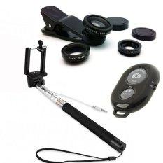 Rp 35.900. Monopod Paket Selfie Tongsis Kabel + Bluetooth Camera Shutter & Lens Clip 3in1IDR35900