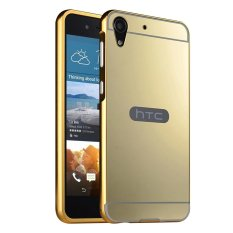 Moon Case Case untuk HTC Desire 728 Mewah Logam Aluminium Bumper Detachable + Cermin Hard Back 2 In 1 Cover Ultra Tipis Bingkai Emas-Intl