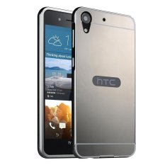 Moon Case Case untuk HTC Desire 728 Mewah Logam Aluminium Bumper Detachable + Cermin Hard Back 2 In 1 Cover Ultra Tipis Bingkai Abu-abu-Intl