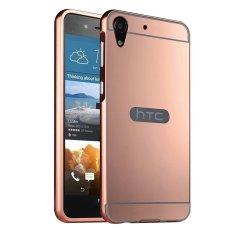 Moon Case Case untuk HTC Desire 728 Mewah Logam Aluminium Bumper Detachable + Cermin Hard Back 2 In 1 Cover Ultra Tipis Bingkai Pink-Intl