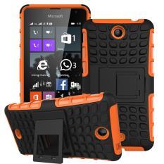 Moon Case Case untuk Microsoft Lumia 430 Detachable 2 In 1 Shockproof Tough Rugged Mencegah Tergelincir Dual-layer Case Cover dengan Built-in Kickstand Orange-Intl