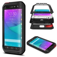 Mooncase Case Untuk Samsung Galaxy Note Edge Tahan Air, shockproof   Snowproof Tahan Debu Tahan Lama Aluminium Logam Gorilla Heavy Duty   Perlindungan tubuh Penuh Case Black