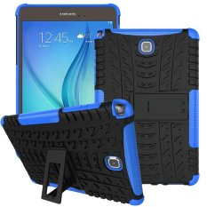 Mooncase Case For Samsung Galaxy Tab A 8.0 Detachable 2 in 1 Hybrid Armor Design Shockproof Tough Rugged Dual-Layer Case Cover with Built-in Kickstand Blue