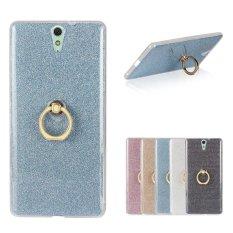 Moon Case Case untuk Sony Xperia C5 Glitter Bling Cetakan Fleksibel Soft Tpu Pelindung Case Cover dengan Dudukan Cincin Kickstand Blue -Intl