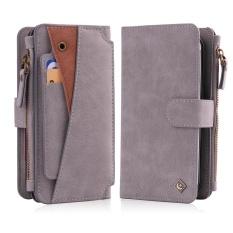 Moon Case untuk Samsung Galaxy S7 Edge Case, Kulit Ritsleting Dompet Multifungsi Handbag Detachable Removable Magnetic Case dengan Car Mount Cover-Intl