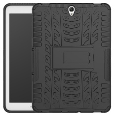 Mooncase Hybrid Armor Detachable 2 in 1 Silicone Ruggedized Shockproof Tough Dual-Layer Case Cover with Kickstand for Samsung Galaxy Tab S3 9.7