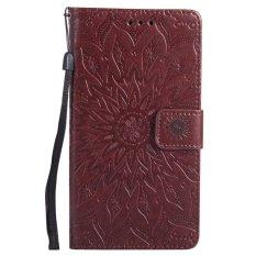 Moon Case Kulit Case untuk LG G4 Premium Pu Flip Cover dengan Gesper Magnetik Stand Brown-Intl