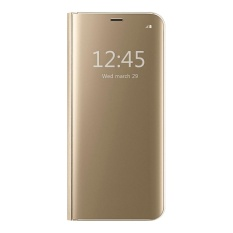 Mooncase Samsung Galaxy J7 Prime Case, Pro Flip Specular Mirror Protective Cover Case with Smart Sleep Gold - intl