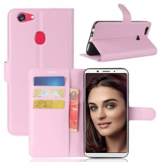 Moonmini Case Cover For OPPO F5For OPPO F5 Litchi Grain PU Leather Wallet Case with Flip Stand Func