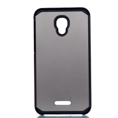 Moonmini Case untuk Alcatel One Touch Fierce 4 Shockproof Dual Layer Armor Back Case-Abu-abu Gelap-Intl