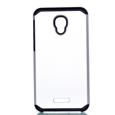 Moonmini Case untuk Alcatel One Touch Fierce 4 Shockproof Dual Layer Armor Kembali Case-Silver-Intl