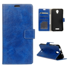 Moonmini Case for Alcatel OneTouch Fierce 4 Crazy Horse Pattern Leather Case Flip Stand Cover - Blue - intl