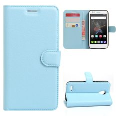 Moonmini Case for Alcatel OneTouch Go Play OT7048X Case Wallet Stand Leather Case Flip Cover - Blue - intl